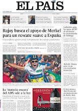 Photo: Rajoy busca el apoyo de Merkel para un rescate suave a España, Gallardón agita las aguas del PP al cuestionar la excarcelación de Bolinaga y la 'materia oscura' del ADN sale a la luz, en nuestra portada del jueves 6 de septiembre http://srv00.epimg.net/pdf/elpais/1aPagina/2012/09/ep-20120906.pdf