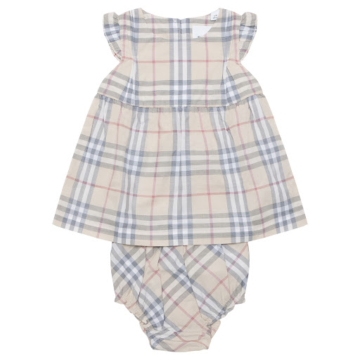 Primary image of Burberry Baby Dress Set