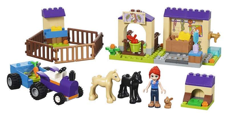 Contenido de Lego® 41361 Establo de Potros de Mia