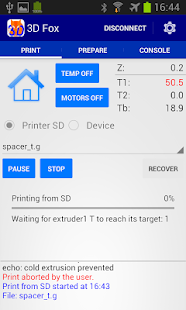 3D Fox Pro, Printer Controller Screenshot
