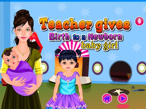 教師出産赤ちゃんのゲーム