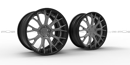 Photo: PUR WHEELS DESIGN 2WO FREE FORM MULTI SPOKE http://www.ac.auone-net.jp/~ever_g/tire/index.html
