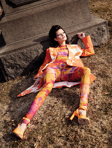 Fashion editorial featuring looks from MSGM and Santoni.