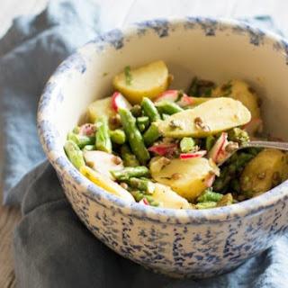 Asparagus, Potato, and Lentil Salad with Lemon Vinaigrette.