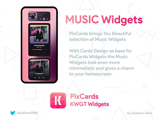 PixCards KWGT - Modern Card Style Widgets screenshot 6
