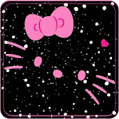 Theme Cute Kitty black pink