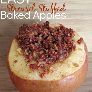 Streusel Stuffed Baked Apple Recipe #FiberOne