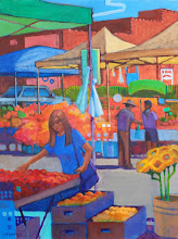 "Photo: ""Farm Fresh"", acrylic on canvas panel, 16"" x 12"", by Nancy Roberts, copyright 2015."
