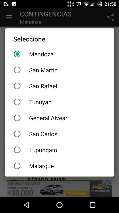 Screenshots of Contingencies Mendoza for iPhone