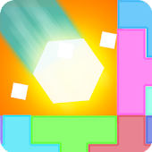 Hexagon Blast: balancing blocks one-touch-tap game