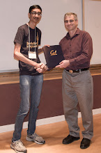 Photo: Rohin Shah accepting the Warren Y. Dere Design Award.
