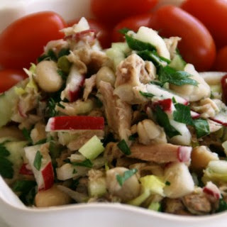 Lemony White Bean, Tuna and Celery Salad