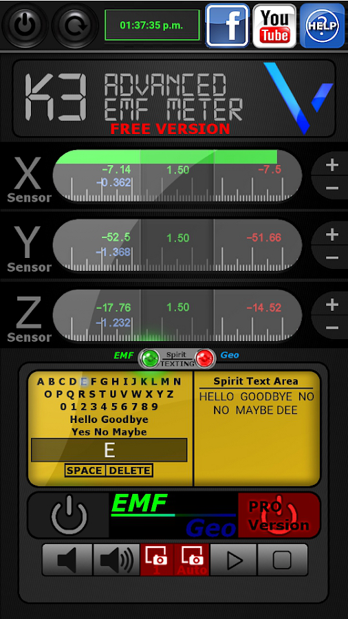 Screenshots of VBE K3 Ghost Com FREE VERSION for iPhone