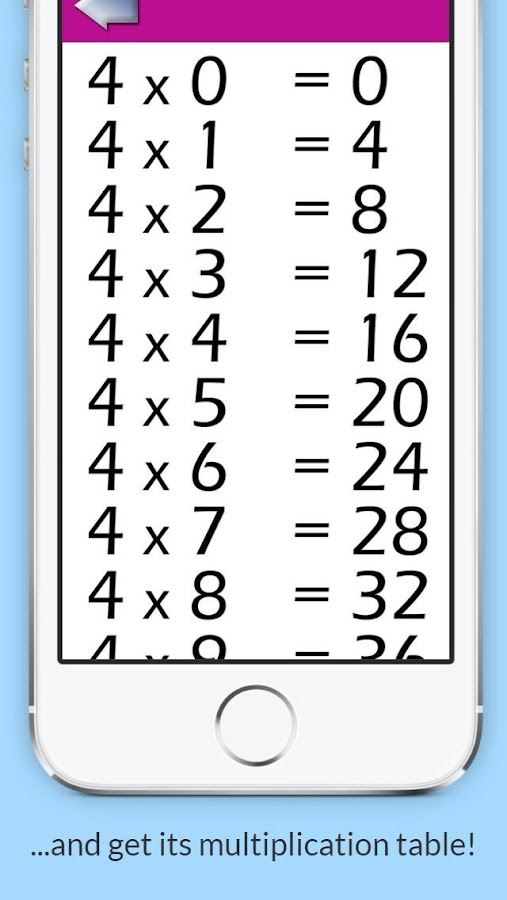 Préférence Multiplication tables - Android Apps on Google Play GK85
