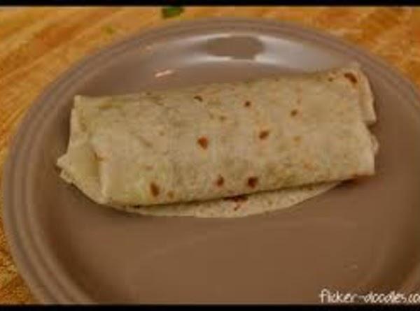 Fold tightly into a burrito.