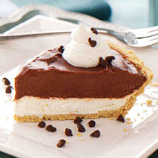 Chocolate Cream Cheese Pie.
