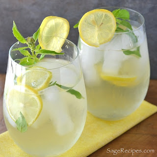 Lemon Basil & Ginger Iced Tea