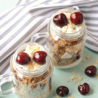Cherry and Almond Parfait.
