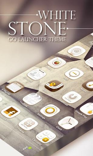 White Stone GO Launcher Theme v1.0 screenshots 1