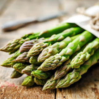 Roasted Asparagus And Mushrooms With Rosemary.