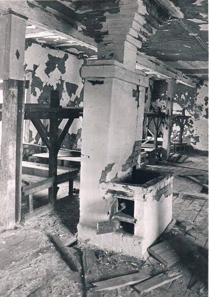 Печь в бараке