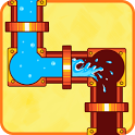 Plumber World : connect pipes (Play for free) icon