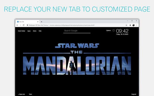 The Mandalorian Wallpaper HD Star Wars NewTab