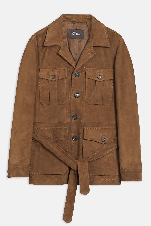 Oscar Jacobson Eastwood jacket brun mocka