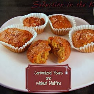 Caramelized Pear and Walnut Muffins