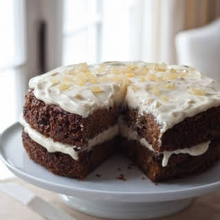 Carrot Cake with Ginger Mascarpone Frosting.