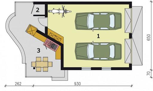 G189 - Rzut garażu