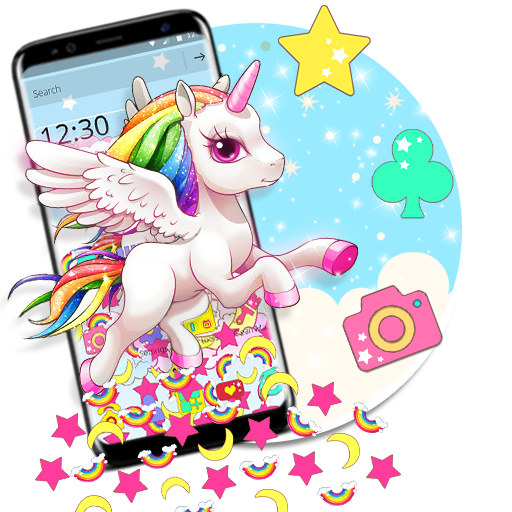 Cute Unicorn Gravity Theme