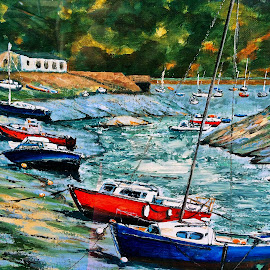 Port by Dobrin Anca - Painting All Painting ( port, store, st brieuc, image, city )