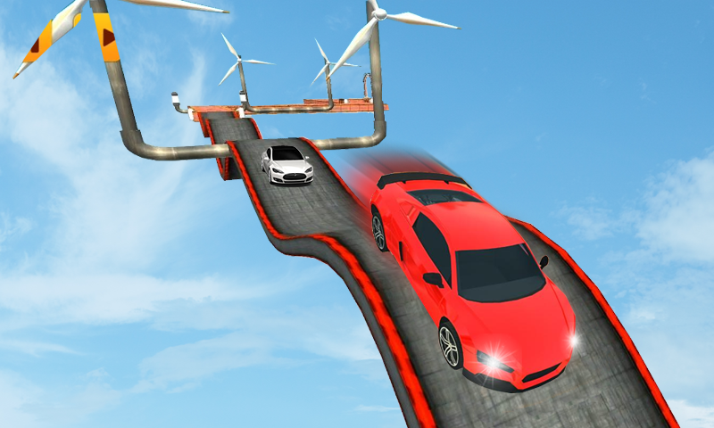 Racing Car Stunt On Impossible Track- screenshot