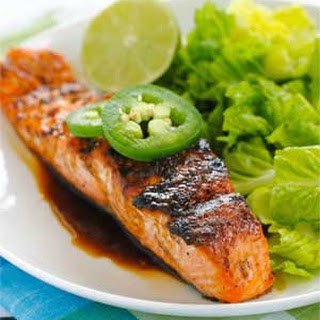Grilled Salmon with Sweet Jalapeno Glaze
