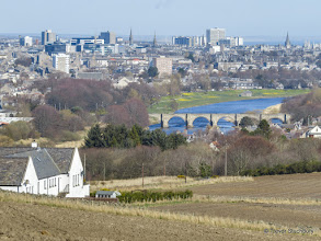 Photo: River Dee and Aberdeen from Tollohill