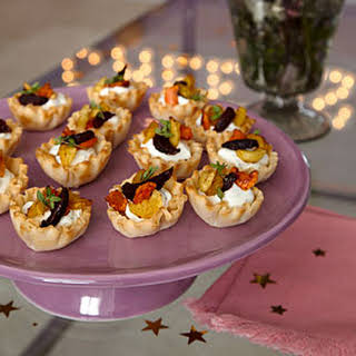 Roasted Vegetable-Goat Cheese Tarts.