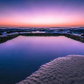 Shelly Beach Ocean Pool by Matthew Wood - Landscapes Waterscapes ( sand, waves, beach, sunrise, morning, rocks )