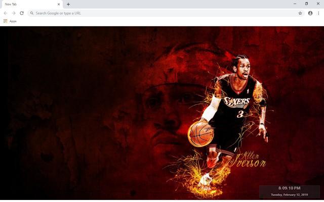 Allen Iverson NBA New Tab