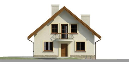 Dom przy Cyprysowej 12 K - Elewacja przednia