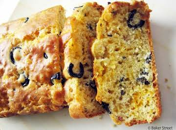 Bacon Olive Bread - No Yeast