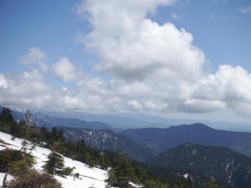 木曽御嶽山が見えてきた