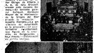 Imágenes de la bendición de la iglesia de Santo Domingo el 30  de agosto de 1947.