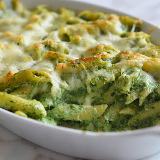 Baked Penne with Spinach, Ricotta & Fontina