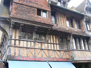 Photo: There are some quite old half-timbered buildings in town.