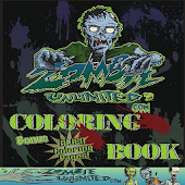 Adult Coloring Book - Zombie World #1