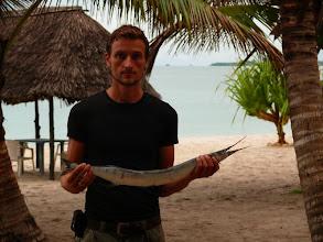 Photo: René a budoucí večeře - Marlin za 60 korun / René and our future dinner - Marlin for 3USD