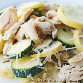 Clean Eating Recipe – Chicken, Zucchini and Parmesan Melt
