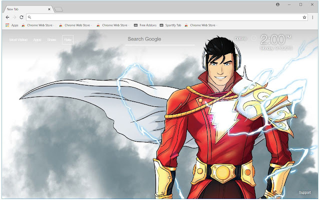 Dc Comics Shazam Hd Wallpapers New Tab Themes Free Addons