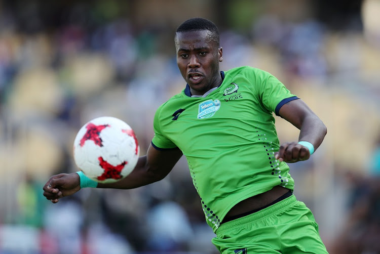 Bongi Ntuli of Platinum Stars during 2017 Telkom Knockout Quarter Final match between Platinum Stars and Bloemfontein Celtic at Royal Bafokeng Stadium, Rustenburg South Africa on 04 November 2017.